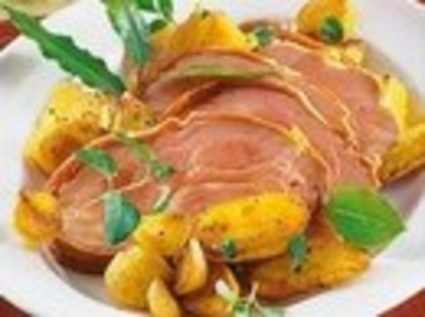 Italienischer Schweinebraten in Parmaschinken - Rezept