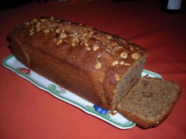 Nusskuchen -Große  Kastenform - Rezept
