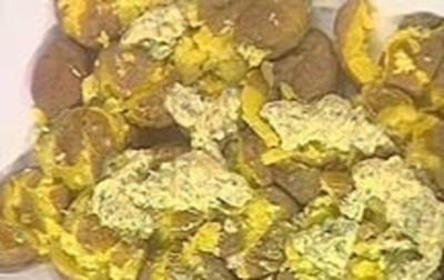 Zerdrückte Pellkartoffeln - Rezept