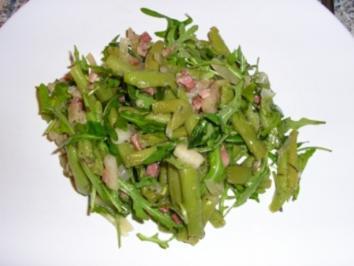 Bohnensalat mit Birnen und Speck - Rezept