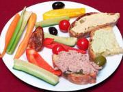 Dips mit Gemüsesticks - Rezept