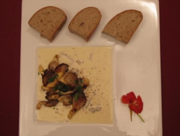 Austernpilze auf Gorgonzolasoße - Rezept