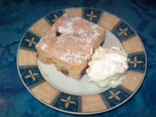 Blechkuchen mit Sauerkirschen - Rezept