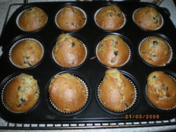 Heidelbeer-Krokant-Muffins - Rezept
