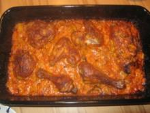 Hähnchen in Tomaten-Sahnesauce - Rezept