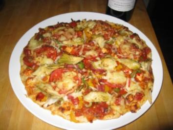 Pizza auf MEINE ART  2 Stück / saftig - Rezept