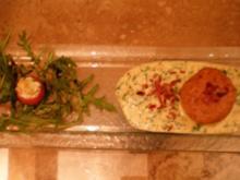 Käsesoufflee mit Serrano-Rucola-Soße - Rezept