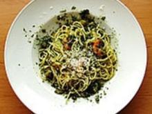 Kräuterscampi mit Spaghetti - Rezept