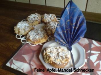 Rezept: Kuchen  Feine Apfel-Mandel-Schnecken