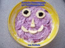 Zwischengericht: Bobbeles Bananenquark mit Holundermarmelade - Rezept