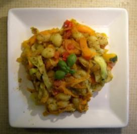 Pasta: Gnocchi in Pestogemüse - Rezept