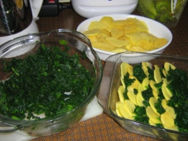 Gorgonzola - Kartoffel - Spinat - Gratin - Rezept - Bild Nr. 2