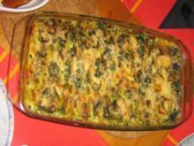 Gorgonzola - Kartoffel - Spinat - Gratin - Rezept