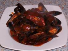 Miesmuscheln in Tomatensauce - Rezept