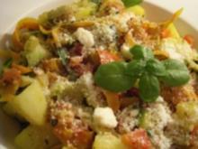 Streifen-Pesto-Gemüse mit Kartoffeln - Rezept