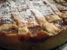 Kuchen: Apfel-Nußkuchen mit Mürbteiggitter - Rezept