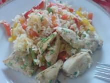 Hähnchen-Reis-Pfanne - Rezept