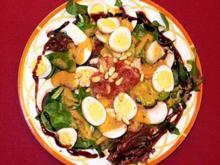 Wintersalate mit Wachteleiern - Rezept