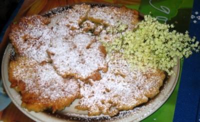Dessert: Gebackene Holunderblüten - Rezept