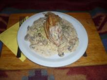 Hühnchen in Champignon - Weißwein - Soße - Rezept