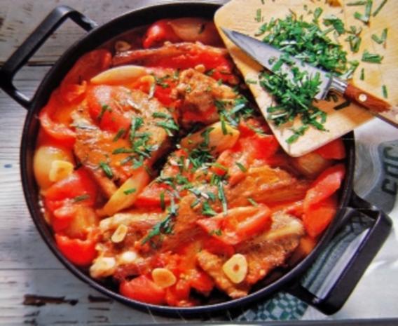 Geschmorte Tomaten Rippchen - Rezept