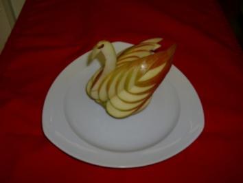 Schwan aus einem Apfel - Rezept