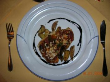 Gebratener Victoriabarsch mit meditteranem Gemüse und gehobeltem Parmesan,Rosmarinkartoffeln - Rezept