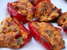 Gefüllte Paprika mit Ziegenfrischkäse - Rezept