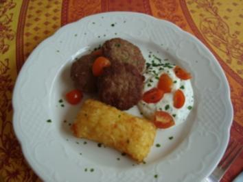 *Abendbrot - Beefsteak mit Quark - Rezept