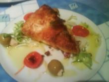 Schafskäse im Parmesanmantel mit Tomaten.. - Rezept