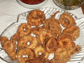 antipasti gebackene calamari mit mandeln - Rezept