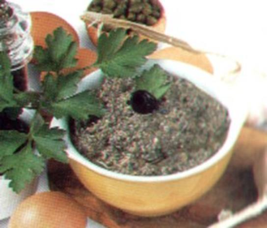 antipasti schwarze olivensosse - Rezept