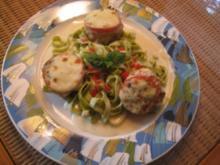 Medaillons vom Schwein mit Tomate &Mozzarella überbacken - Rezept