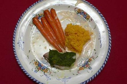 Seeteufelschwänze mit Champagnerschaum, Herbst-Gemüse und Safranrisotto - Rezept