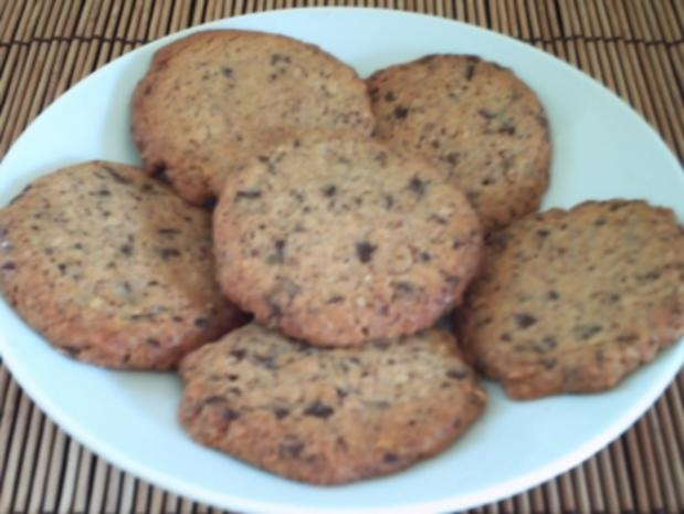 Chocolate-Pecan-Cookies – amerik. Art - Rezept