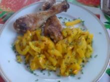Junges Hähnchen mit gedünstetem Gemüsepaprika - Rezept
