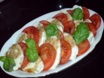 Tomaten und Mozzarella - Rezept