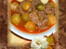 Eintopf. : Rosenkohl-Gericht mit Rindfleisch - Rezept