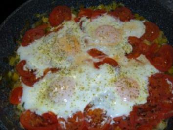 Eier Tomaten Pfanne - Rezept
