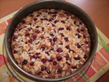 Kirsch-Mandel-Marzipan-Kuchen - Rezept