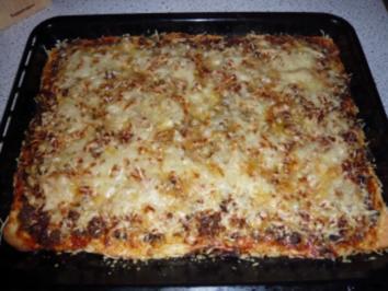 Rezept: Scharfe Champignon - Hack Pizza