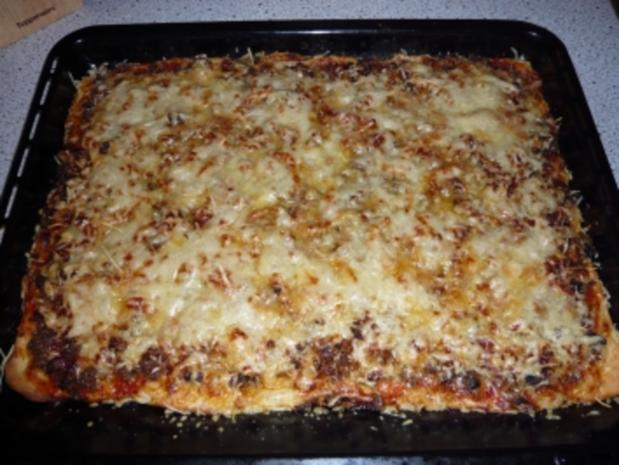 Scharfe Champignon - Hack Pizza - Rezept