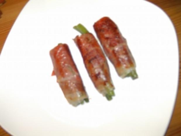 Grüne Bohnen im Prosciuttomantel - Rezept