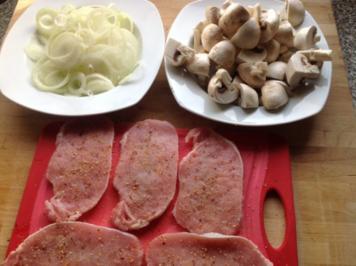 Sahne-Champignons-Schnitzel mit Pepp - Rezept