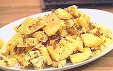 Würziger Biskuit mit Speck und Majoran - Rezept