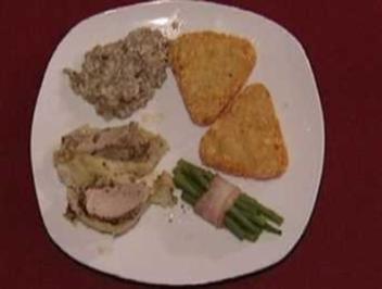 Rezept: Schweinefilet im Blätterteig mit Bohnen im Speckmantel und Rösti (Michael Penners)