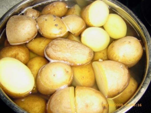 Hackbraten im Bacon - Mantel mit Ofenkartoffeln - Rezept