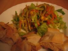Asia Salat mit Filotaschen - Rezept