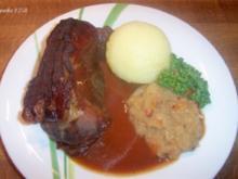 """""""Fränkisches"""" Schäufele mit Dunkelbiersoße - Rezept"""