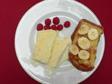 Weißes Schokoladeneis mit French Toast - Rezept